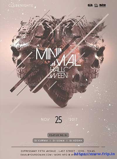 Minimal-Halloween-Flyer