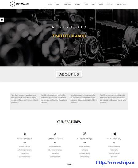 Minimalize-Single-Page-WordPress-Theme