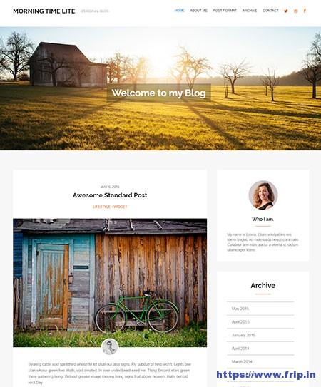 Morning-Time-Lite-WordPress-Theme