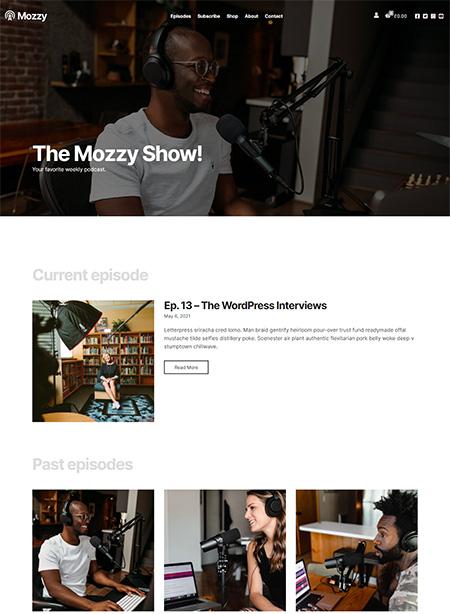 Mozzy-WordPress-Podcasting-Theme