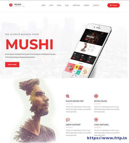 Mushi-Multipurpose-HTML-Template