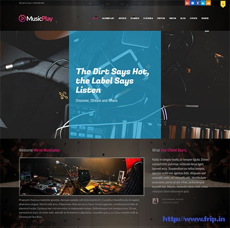 MusicPlay-Music-WordPress-Theme