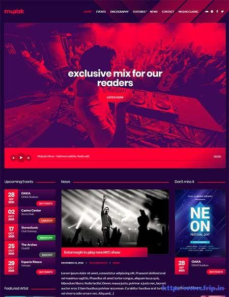 Muzak-Music-WordPress-Theme