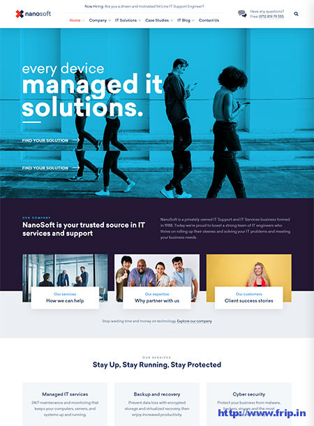 Nanosoft-IT-Solutions-&-Service-Company-Theme