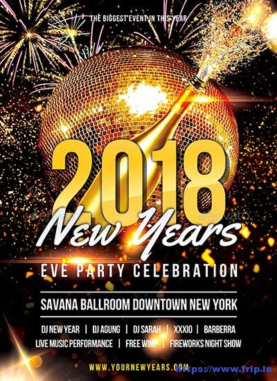 New Years Eve Party Flyer Template Free from www.frip.in