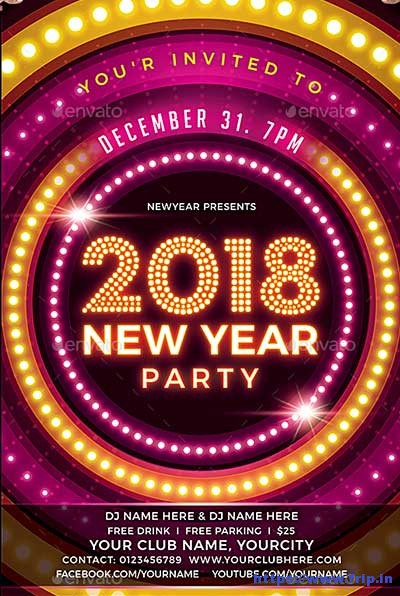 New-Year-Party flyer
