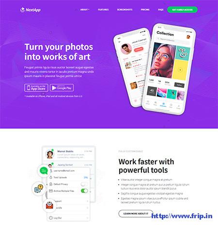 NextApp-App-Landing-WordPress-Theme