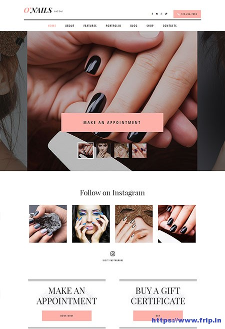 O-Nails-Nail-Bar-&-Beauty-Salon-Theme