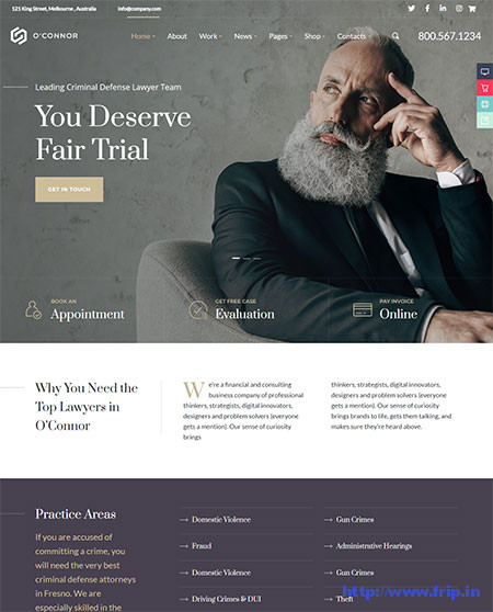 Oconnor-Lawyer-WordPress-Theme