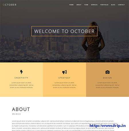 October-One-Page-WordPress-Theme