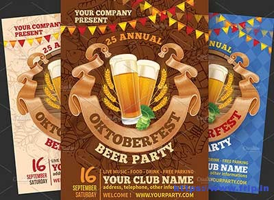 Oktoberfest-Beer-Party-Flyer