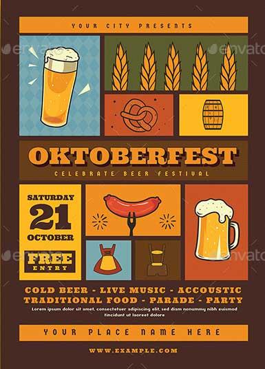 Oktoberfest-Event-Flyer