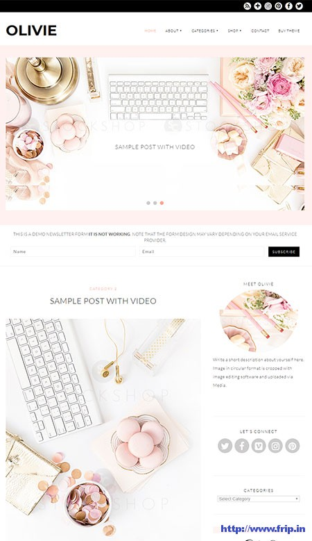 Olivie--feminine-WordPress-Theme
