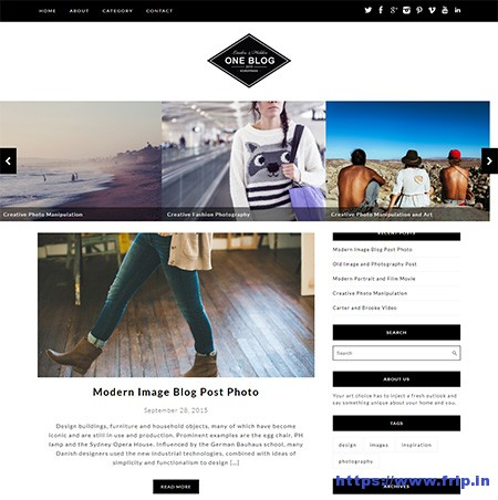 One-Blog-WordPress-Theme
