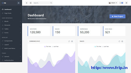 OneUI-Admin-Dashboard-Template