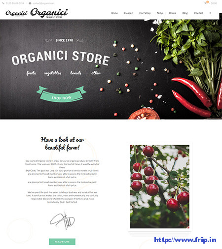 Organici-Organic-Store-WordPress-Theme