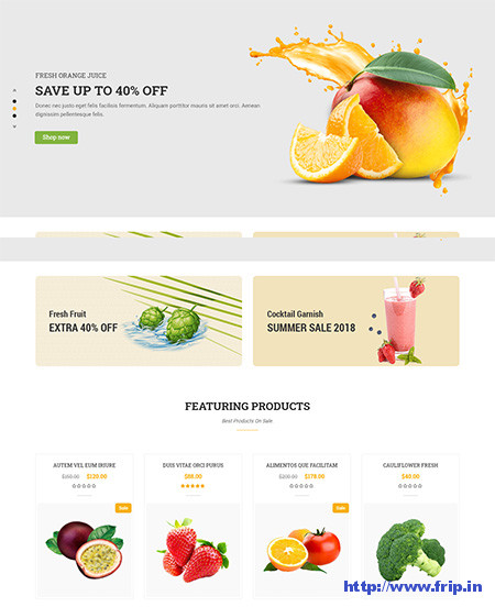 Organic Food WordPress Themes