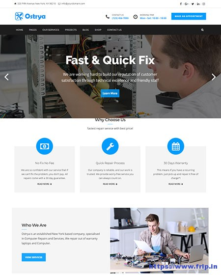 Ostrya-Repair-&-Mobile-Service-WordPress-Theme