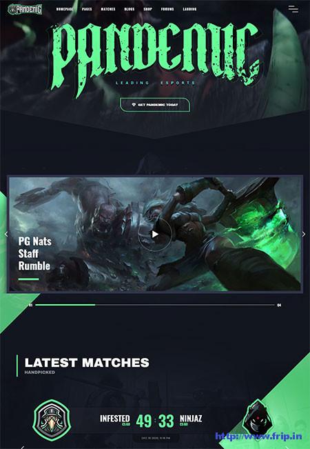 Pandemic-eSports-Gaming-Theme