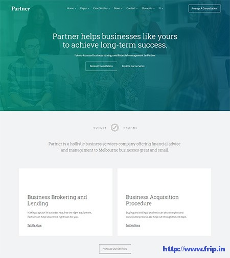 Partner-Accounting-WordPress-Theme