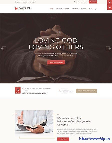 Pastore-Church-WordPress-Theme