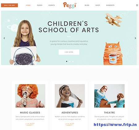 Peggi-Multipurpose-Children-Theme