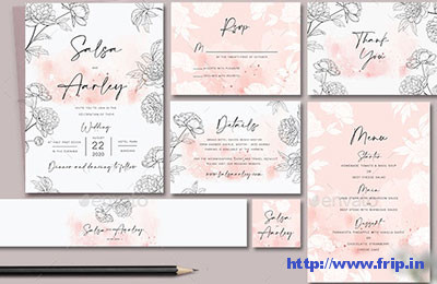 Peonies-Wedding-Invitation-template