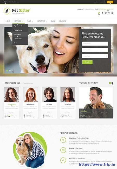 Pet-Sitter-Job-Board-WordPress-Theme
