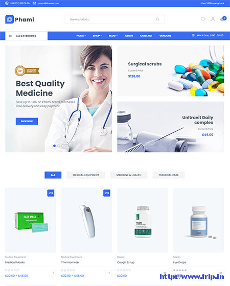 Phami-Medical-WooCommerce-Theme