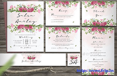 Pink-Rose-Wedding-Invitation-template