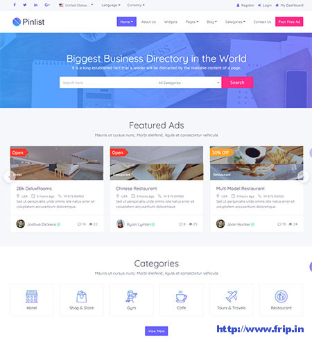 Pinlist-Directory-HTML5-Listing-Template