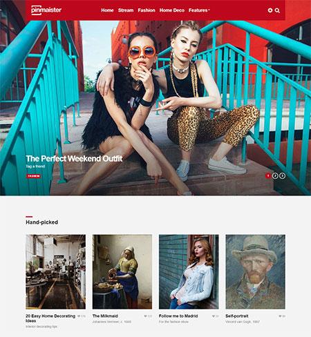 Pinterest WordPress themes