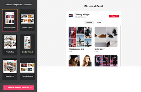 Pinterest-Feed-widget