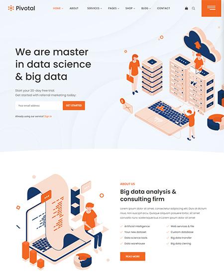 Pivotal-Data-Science-&-Analytics-WordPress-Theme