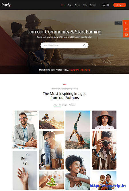 Pixefy-Stock-Photography-Marketplace-Theme