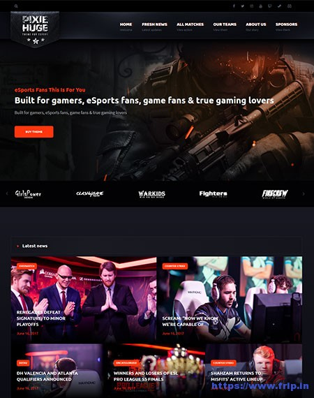 PixieHuge-eSports-Gaming-Theme