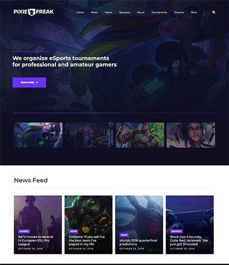 Pixiefreak-Gaming-WordPress-Theme