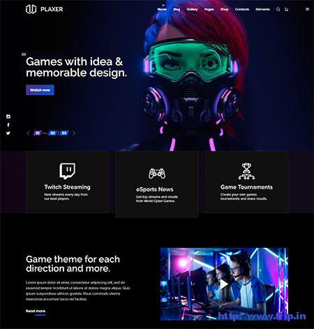 Plaxer-Gaming-&-eSports-Theme