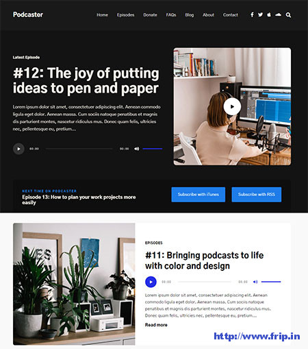 Podcaster-Podcasting-WordPress-Theme