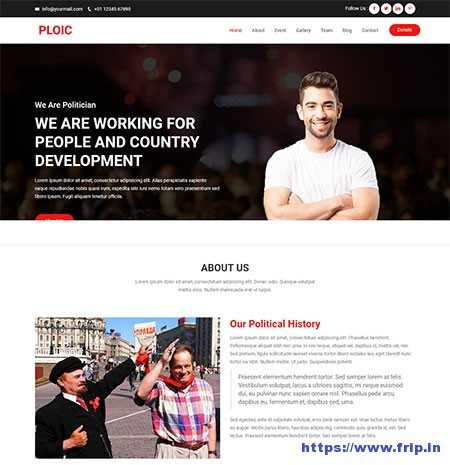 Polic-Political-HTML-Template