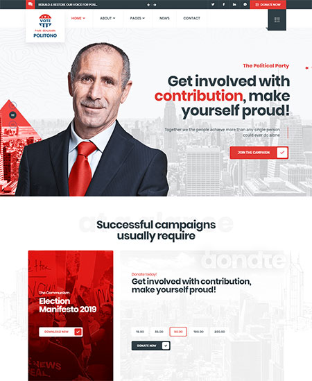 Politono-Political-WordPress-Theme