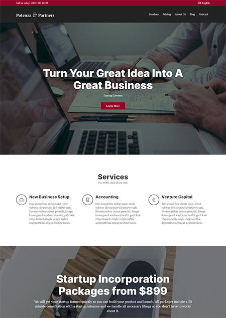 Potenza-One-Page-WordPress-Themes