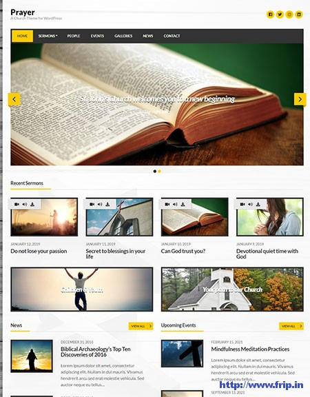 Prayer-Church-WordPress-Theme
