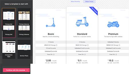 Pricing-Table-widget