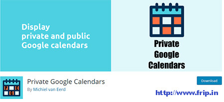 Private-Google-Calendars-Plugin