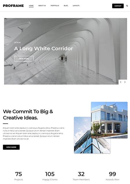 ProFrame-Minimal-Business-WordPress-Theme