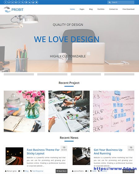 Probit-Responsive-WordPress-Theme