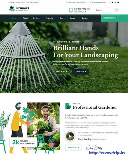 Pruners-Garden-Landscaper-Theme