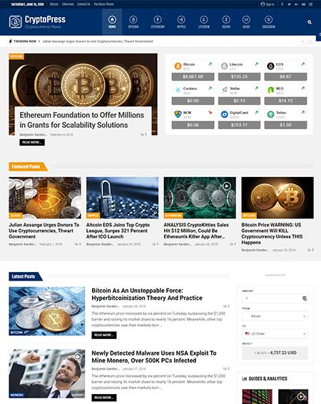 Publisher-Cryptocurrency-WordPress-Theme