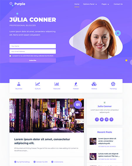 Purple-Feminine-WordPress-Theme